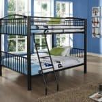 Powell Heavy Metal Black Full Over Full Bunk Bed