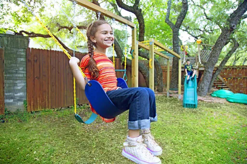 Jungle Gym Kingdom 2-Pack Swings Seats Heavy-Duty Chain Plastic Coated 66 inch- Playground Swing Set, Snap Hooks