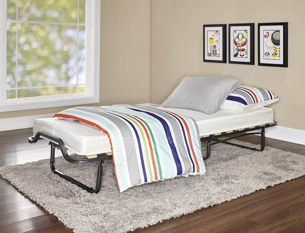 Linon Home Decor Luxor Memory Foam Folding Bed Mattress, Cot, Beige